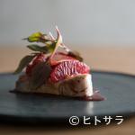 ラピ - 食材個々の特性を見極める、繊細な感性が光る『ヨコワ ブラッドオレンジ 赤軸ホウレン草』