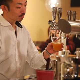 外国のビール職人がつくっているビールに限定したラインナップ