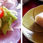 茶房 ふぅ - サラダとゴマ豆腐