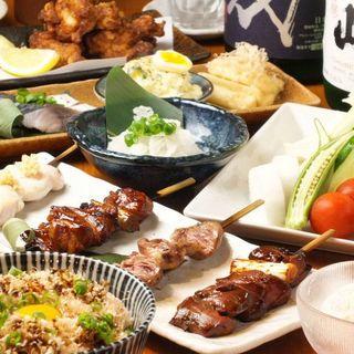 けむり定番☆お手軽宴会コースは2H飲み放題付き4,000円~