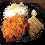 82005597 - 華ノ枝 「牛かつメンチ定食」