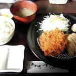 82005610 - 華ノ枝 「牛かつメンチ定食」