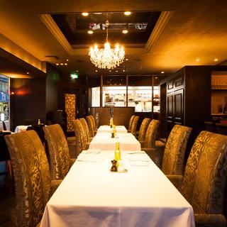 大切な方との会食や、接待に最適なレストラン