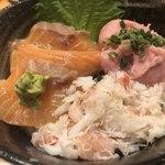 板前寿司  - 三色丼