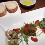 チェターラ - ★★★☆ 前菜とパン  3種盛りの前菜