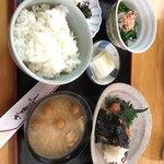 キッチン食堂 城山 - 鶏むね肉の磯辺揚げ定食 950円