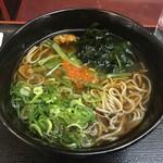 丸や - 山菜そば(¥350)