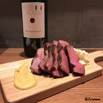 肉バルサンダー - 岩手県産黒毛和牛種の牛たん(追加分)とFOSSI ROSSO