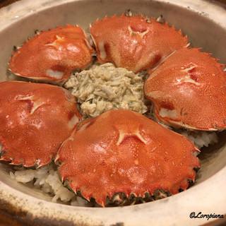 千陽 - 料理写真:通称『エルメス』ガニの炊き込みごはん