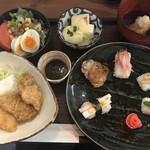 ル マージュ - 料理写真:2月の御膳はかきフライとお野菜のお寿司