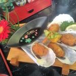 新鮮処 魚里 - 単品カキフライ ¥620