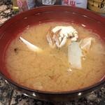 スーパー回転寿司やまと - ランチサービス  蟹の味噌汁
