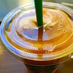 スターバックス・コーヒー - マンゴーパションティーフラペチーノのトールサイズ。 美味し。