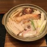 かつまる - 鍋焼きうどん(\1.000)