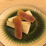 旬美にしかわ - 竹の子とカラスミ。       驚く程の美味しさです!