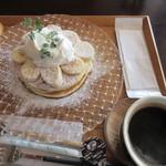 ジャストカフェ - バナナパンケーキドリンクセット