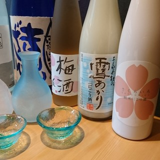新潟地酒、約60種