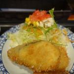 居食家 灯り - 限定 オホーツク産生ホタテ丼と揚げ物定食