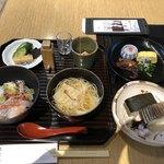 82027408 - むしやしないB(甘鯛丼、湯葉そうめん)、鯖寿司、炙り鯖寿司、ひとしな)