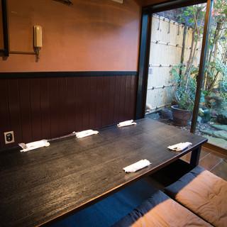 ◇全48席◇全個室◇庭園が見渡せる個室も!大人の隠れ家空間