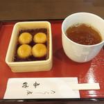 たらし屋 吾助 - サービスで頂いた柿渋健康茶もさっぱり円やかで美味しかったです。