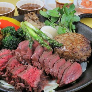 北海道産のお肉!【ステーキ盛り合わせ】
