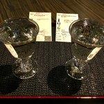 試 - #227「雪彦山純米原酒」(壺阪酒造)と、#187「名城純米無濾過生原酒 雫の香り」(名城酒造)。共に250円。