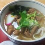 丸福 - もつ煮きしめん 950円