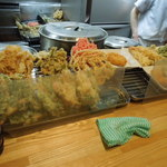 福そば - 天ぷらカウンター