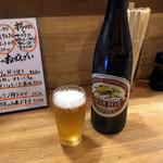 うっちゃり - 大瓶ビール580円