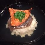 82033510 - お椀 : 帆立真薯、生木耳、焼きばちこ
