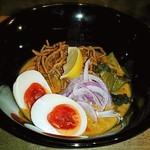 カオソーイとおばんざい NANAN - 【カオソーイ + 龍の煮玉子】¥900 + ¥100