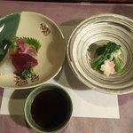 旬膳処 茶目 - 料理写真:お刺身に菜の花のおひたし