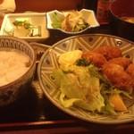 めん坊 - カキフライ定食