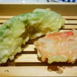 天ぷらスタンド KITSUNE - アボカド、紅しょうが
