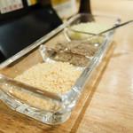 天ぷらスタンド KITSUNE - 柚子塩、山椒塩、昆布塩