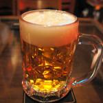 ハイピッチ - 生ビール(ブラウマイスタージョッキ・600円)