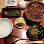 Shirakawa - 上ひつまぶし(2960円)+肝吸い(220円)