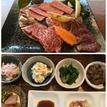 山川庵 - Aセット(白飯、お味噌汁、お茶付) 4860円…
