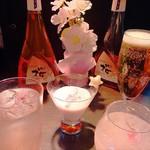 PLANET BAR 星蔵 - 季節限定のオリジナルカクテルも御座います!写真は春限定の桜のカクテル。「星桜」が一番人気!