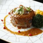 龍天門 - 牛タンの蜂蜜胡椒ソース