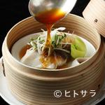 龍天門 - 鮮魚のセイロ蒸し 特製ソース