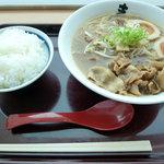 まるたか - 徳島ラーメン煮玉子付き定食