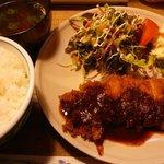 地鶏料理と洋食の店 まっくす - 味噌カツ(丹波地鶏) 800円