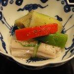 割烹 いわき - 冷たい夏野菜の小鉢