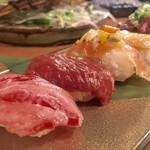 82055724 - 肉の寿司盛り合わせ