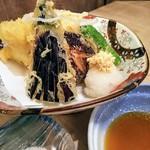 葵屋 - がんぞう平目と野菜の天ぷら