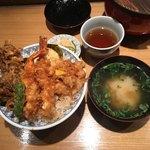 日本橋 天丼 金子半之助 - 味噌汁は別売り120円
