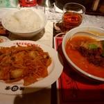 陳麻家 - 【2018.3.7(水)】陳麻家定食(豚キムチ+半担々麺)900円→550円