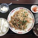 ニイハオ - 料理写真:Bランチ700円(肉ニラ)